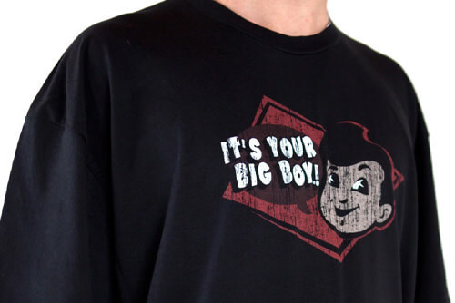 big boy t shirt it's your big bog black