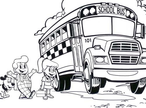 back to school big boy coloring sheet