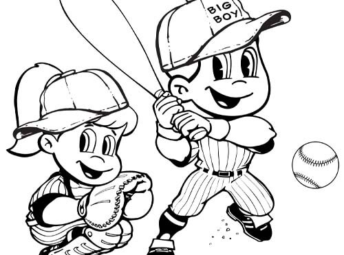 baseball big boy coloring sheet