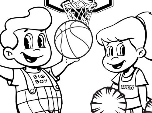 basketball big boy coloring sheet