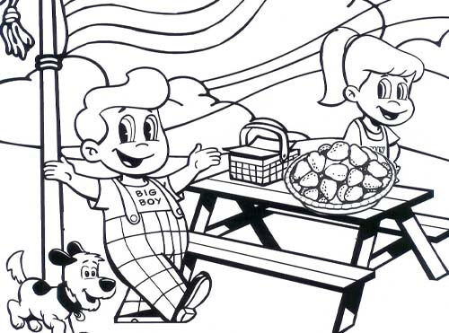 4th of july big boy coloring sheet