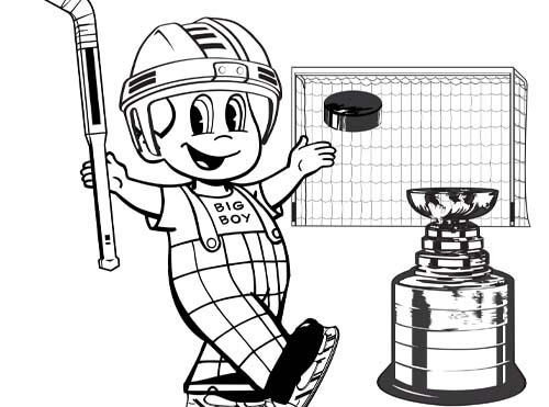 hockey big boy coloring sheet