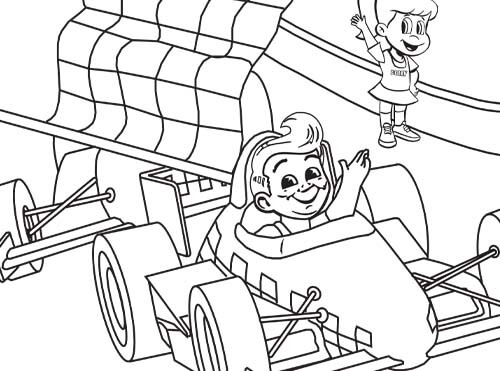 grand prix big boy coloring sheet