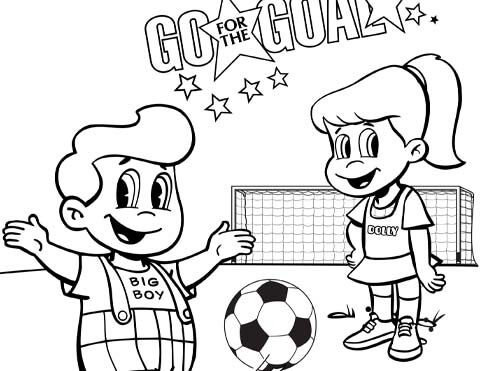 soccer big boy coloring sheet