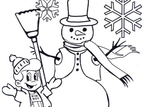snowman big boy coloring sheet